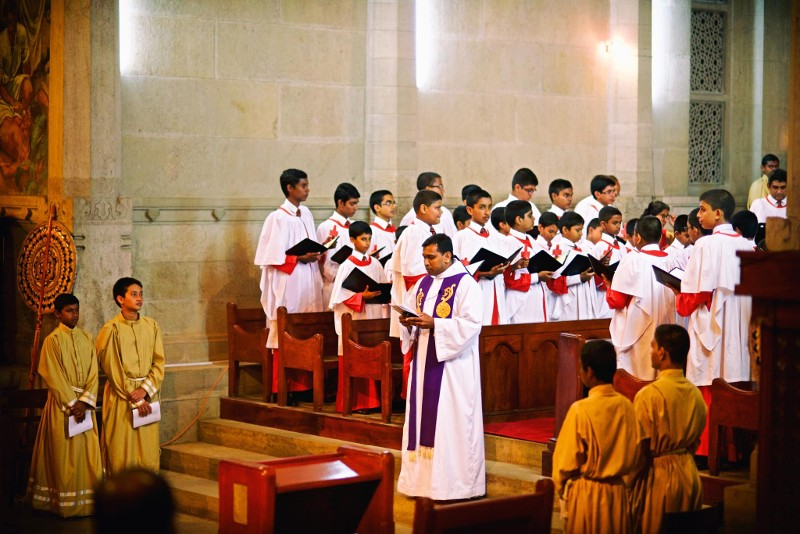 Trinity College Choir singing