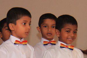 Junior school children at Trinity College Kandy