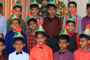 Montessori school children at Trinity College Kandy