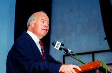 Principal Andres Fowler-Watt speaking