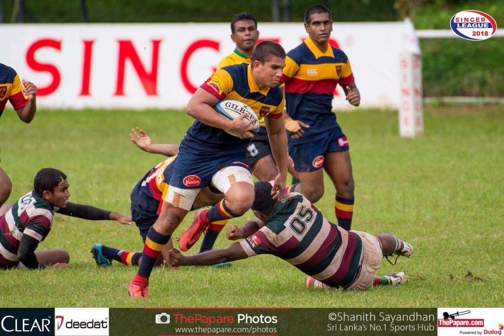 Trinity College vs Zahira College Rugby encounter 2018 – Match